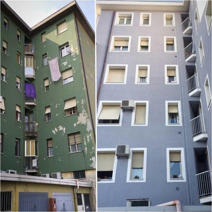 Riqualificazione energetica condominio prima e dopo